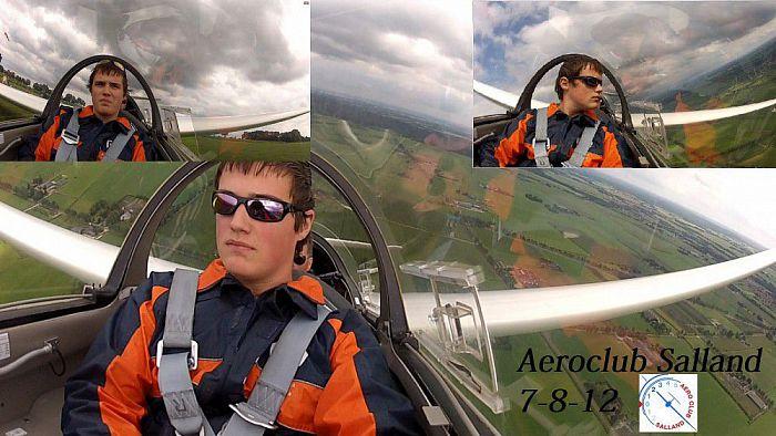Aan boord van een zweefvliegtuig boven Salland (video) - Foto: Niels Jansen