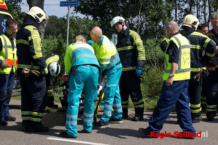 Lifeliner naar Dalfsen voor ongeval met motorrijder - Foto: Pim Haarsma