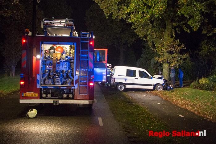 Vrouw gewond bij eenzijdig ongeval Lemelerveld - Foto: Pim Haarsma