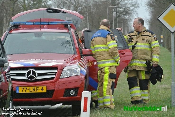 Brand in transformatorhuis Westeinde Nieuwleusen - Foto: Niels Jansen