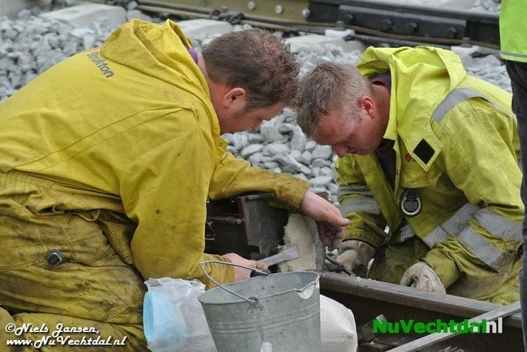 UPDATE Spoorstaven lassen en aantrillen Dalfsen - Foto: Niels Jansen