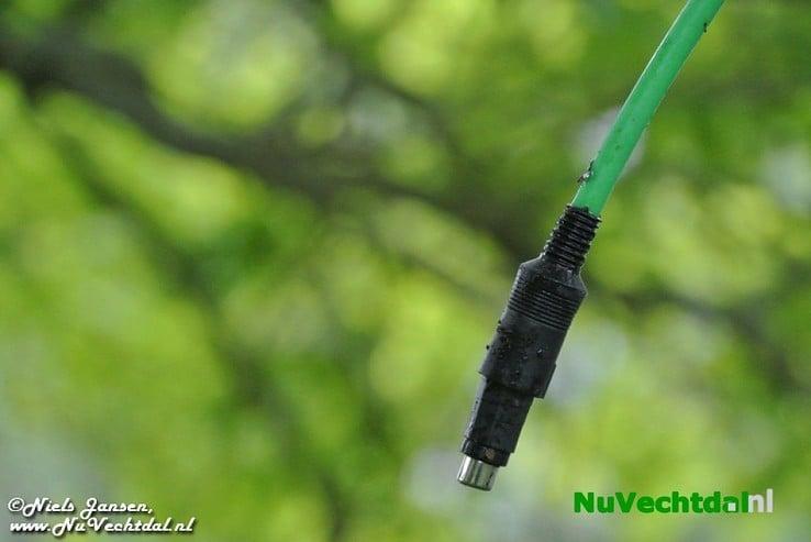 Zendpiraat bovenop telecommast Nieuwleusen - Foto: Niels Jansen
