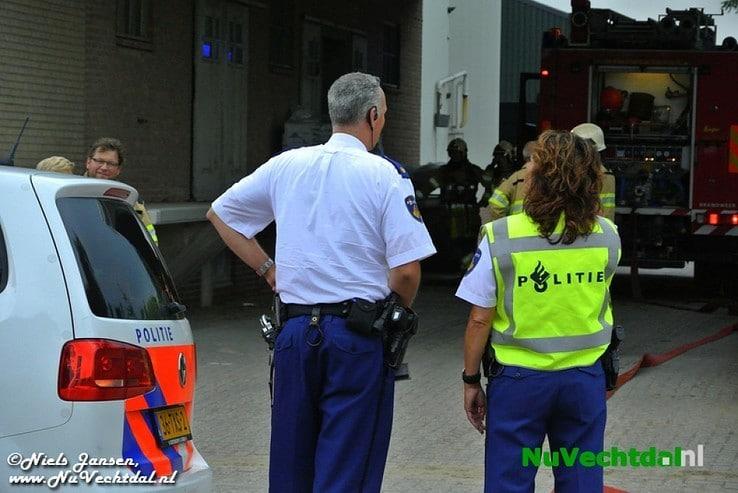 Brand diervoederbedrijf Rondweg Dalfsen - Foto: Niels Jansen