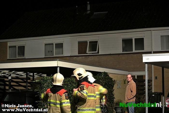 Schoorsteenbrand eerste Kerstdag Kloosterhof Dalfsen - Foto: Niels Jansen