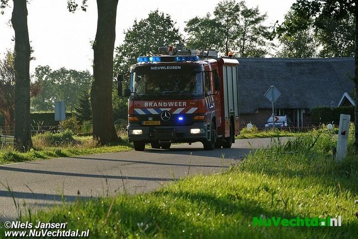 Woningbrand Kringsloot-Oost Dalfsen - Foto: Niels Jansen