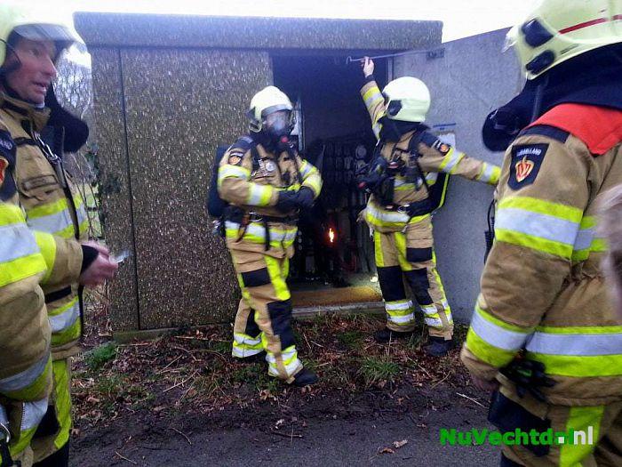 Brand in elektriciteitshuisje buitengebied Dalfsen - Foto: Niels Jansen