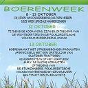 Boerenweek 8 t/m 13 oktober in Dalfsen