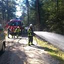 Bosbrand aan de Bosrandweg in Dalfsen