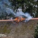 Woning verwoest na brand aan de Varsenerdijk Ommen
