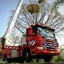 VIDEO: Vlieger in boom langs N348, inzet brandweer