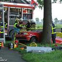 VIDEO Auto in sloot bij middel-ongeval Gernerslag Dalfsen