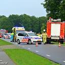 VIDEO Busje over de kop op de Tolhuisweg bij Dalfsen