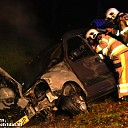 Autobrand Lemelerveld, bestuurster gered door brandweer