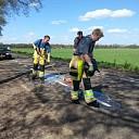 Oliespoor op de Vilstersedijk even buiten Lemelerveld