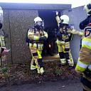 Brand in elektriciteitshuisje buitengebied Dalfsen