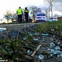 Auto's botsen bij passeren op Dalmsholterweg