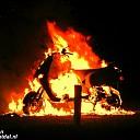 Scooter volledig afgebrand op de Hessenweg bij Dalfsen