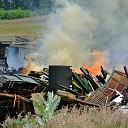 Foto's laatste fase grote brand Brinkweg Dalfsen